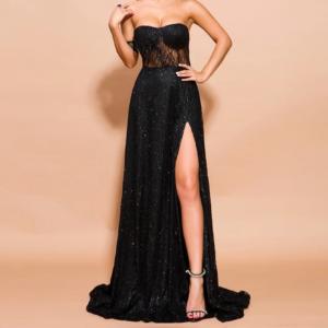 Dámské dlouhé třpytivé šaty