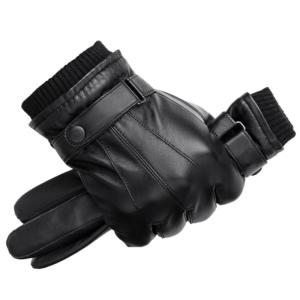Pánské zimní kožené rukavice