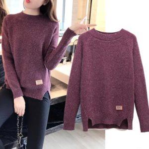 Dámský módní svetr s rozparky Kianna