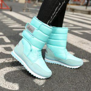 Dámské zimní boty na suchý zip