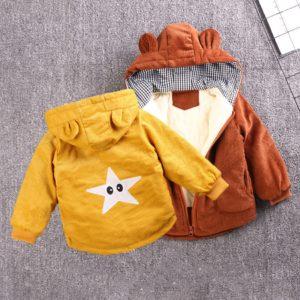 Dětská bunda s hvězdičkou na zádech