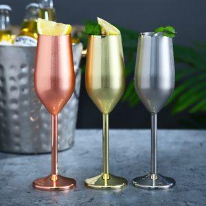 Luxusní metalické skleničky na šampaňské