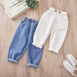 Stylové dětské volnější džíny