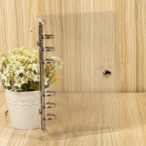 Průsvitný obal na diář - transparentní vazač na volné listy