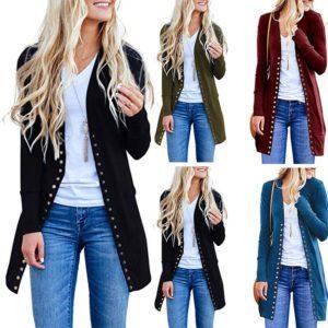 Dámský krásný dlouhý svetr