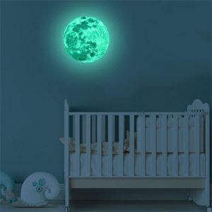 fosforeskující 3D nálepka měsíce Moon