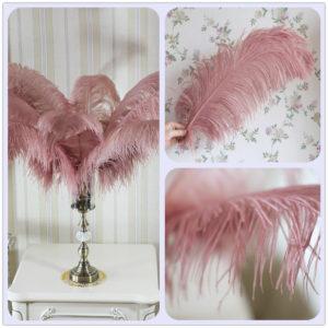 Nádherná dekorace pštrosí peří
