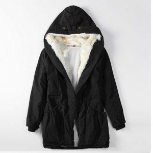 Dámský teplý kabát s kožíškem Hannah