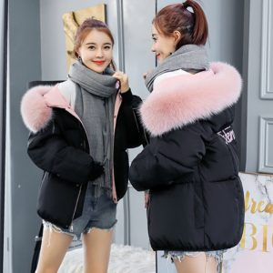 Dámská zimní bunda s chlupatým límcem Haley