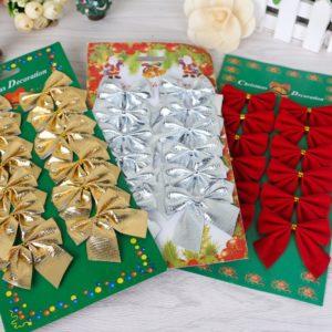 Vánoční set dekoračních mašlí Hastings