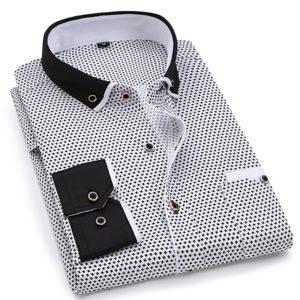 Pánská společenská módní ležérní košile s dlouhým rukávem