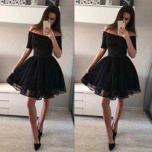 Nádherné společenské šaty na ramena