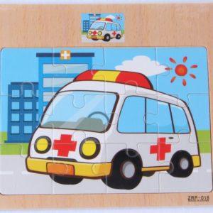 Dřevěné dětské puzzle