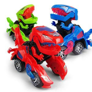 2020 New Dinosaur Transforming Car LED Flashing Car Toy Transformation RC Car With Music Cool Gift For Kid Toddlers Dropshipping
