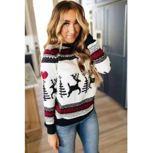 Dámský stylový zimní svetr Deer