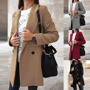 Dámský luxusní podzimní kabát Rudy