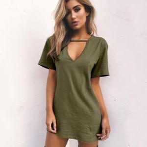 Dámské krátké trendy látkové šaty Amaryllis