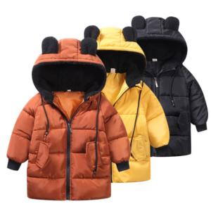 Dětská zimní bunda s ušima