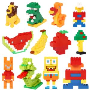 Dětská stavebnice různých barevných možností - 1200 dílků