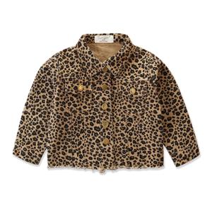 Dětská džínová bundička s leopardím vzorem
