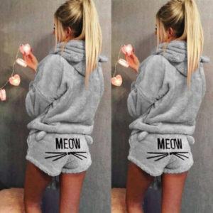 Dámské teplé pyžamo Meow