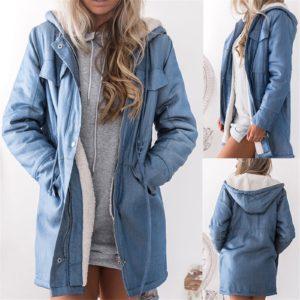 Dámský stylový džínový kabát
