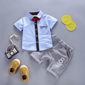 Chlapecká stylová letní souprava – polokošile a kraťasy