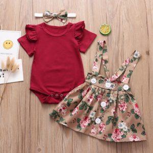 Dětský roztomilý set pro dívku / šaty a body
