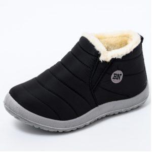 Dámské nazouvací zimní boty s kožíškem