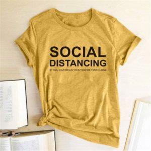 Dámské stylové triko Social Distancing