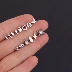 Roztomilé maličké náušnice na šroubek