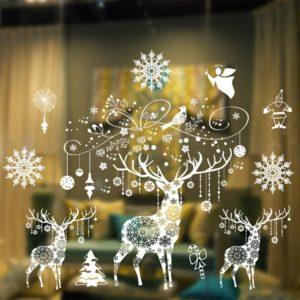 Velká vánoční samolepka na sklo