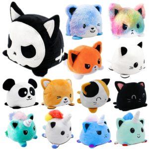 Roztomilý oboustranný plyšový mazlíček - kočička, jednorožeč nebo panda
