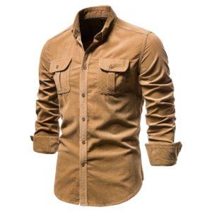 Pánská moderní zateplená podzimní košile Alvarez