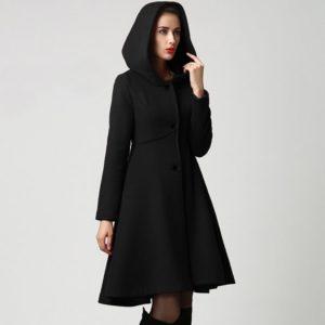 2020 Fashion Winter Autumn Women Wool Coat Long Sleeve Solid Belted Loose Warm Woolen Jacket Hooded Outerwear#J30