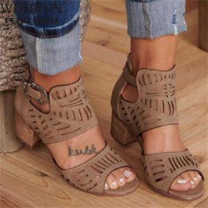 Dámské luxusní sandály na podpatky Linda