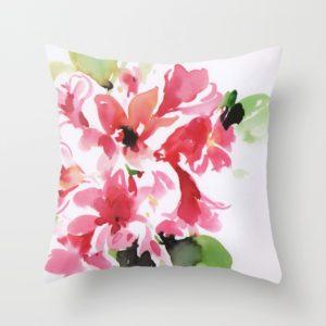 Jarní povlak na polštář s květinou