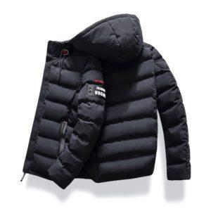 Pánská zimní prošívaná bunda s kapucí Pansy