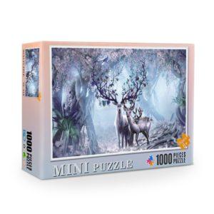 Dřevěné puzzle s různými motivy - 1000 dílků
