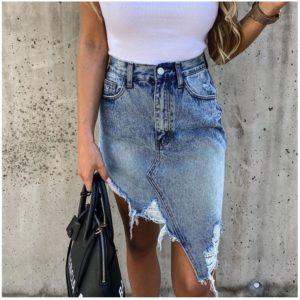 Dámská džínová sukně Caitlin - 2 varianty