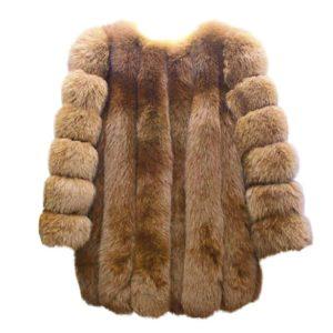 Dámský luxusní kožešinový zimní kabát