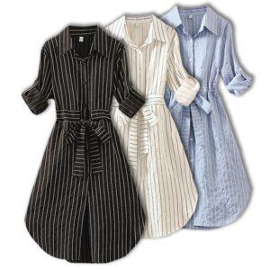 Dámské pruhované košilové šaty Bianca