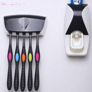 Dávkovač na zubní pastu + držák na kartáčky