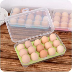 Praktický organizér na vajíčka do lednice - 15 ks