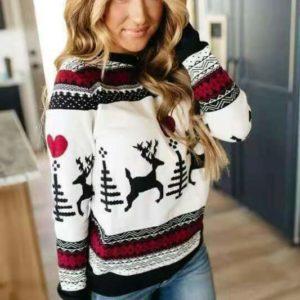 Stylový dámský Vánoční svetr Merry