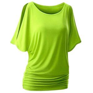 Dámské moderní triko s otvory na ramenou