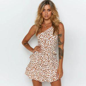 Dámské letní krátké šaty Leopard