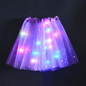 Dívčí sukně s LED světýlky