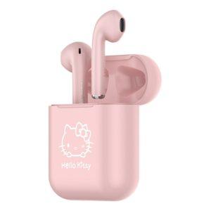 Přenosná bluetooth bezdrátová sluchátka – Hello Kitty