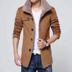 Pánský stylový podzimní kabát s límcem Brandan
